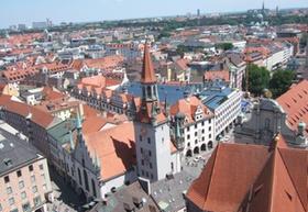 München von oben Blick auf die Altstadt