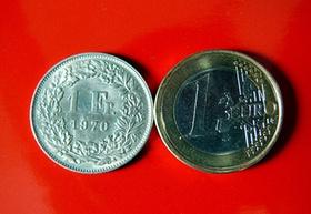 Münzen Franken ud Euro
