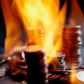 Münzen und Feuer