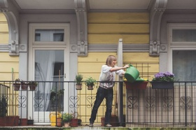 Nachbarschaftsplattform Nebenan.de Balkon Blumen