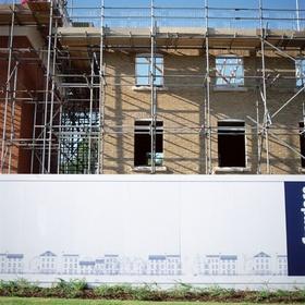 Neubau Wohnungsbau Siedlung Rohbau