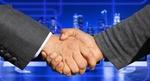 Fusion Händeschütteln Immobilien Übernahme Deal