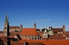 Nürnberg Blick auf die Burg