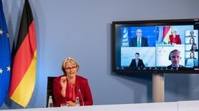 """Anja Karliczek im Rahmen einer Pressekonferenz zur OECD-Studie """"Weiterbildung in Deutschland"""""""