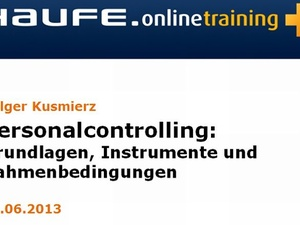 "Online-Seminar ""Personalcontrolling"""