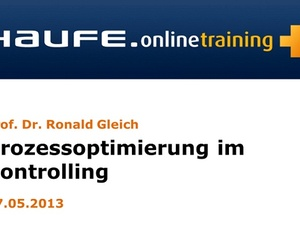 """Online-Seminar """"Prozessoptimierung im Controlling"""""""