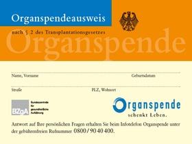 Organspendeausweis BZgA