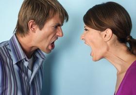 Paar schreit sich an