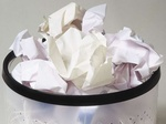 Papierkorb, voll