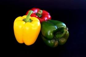Paprika rot grün gelb Stilleben