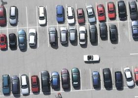 Parkplatz, Luftaufnahme