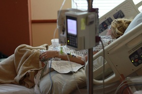 Patientin im Krankenhaus