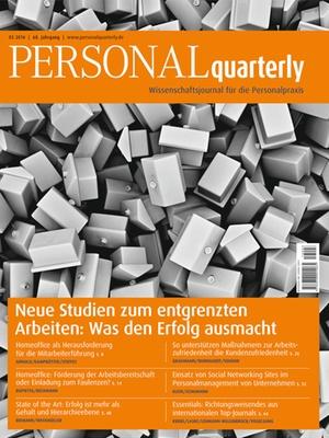 PERSONALquarterly 3/2016 Entgrenztes Arbeiten | PERSONALquarterly