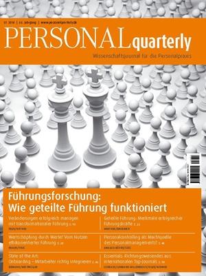 PERSONAL quarterly Ausgabe 1/2014 | PERSONALquarterly