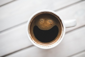 Smiley-Kaffee