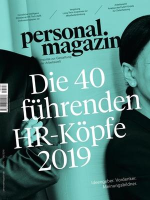 Personalmagazin Ausgabe 8/2019 40 Köpfe | Personalmagazin