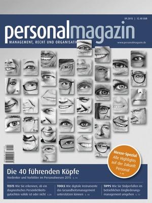 Personalmagazin Ausgabe 9/2015 | Personalmagazin