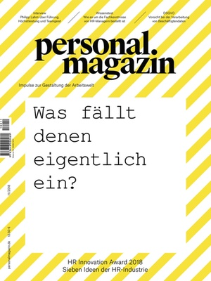 Personalmagazin Ausgabe 11/2018 | Personalmagazin