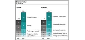 Gestapelte Säulendiagramme in der Bilanz