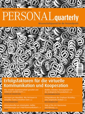 PERSONALquarterly 2/2017 Virtuelle Kooperation | PERSONALquarterly