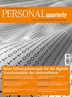 PERSONALquarterly 1/2017 Digitale Transformation | PERSONALquarterly