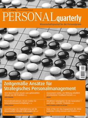 PERSONALquarterly 1/2019 Strategisches Personalmanagement | PERSONALquarterly