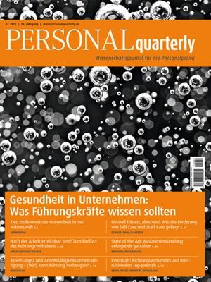 PERSONALquarterly 2/2018 Gesundheit in Unternehmen | PERSONALquarterly