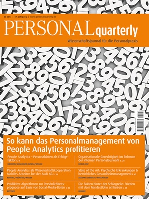 PERSONALquarterly 3/2017 People Analytics | PERSONALquarterly