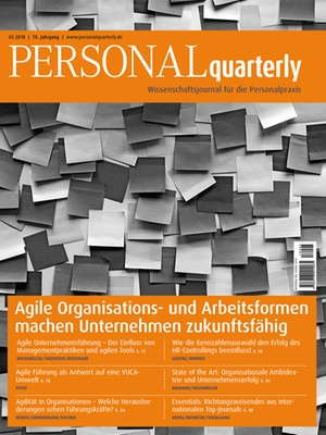 PERSONALquarterly 3/2018 Agilität | PERSONALquarterly