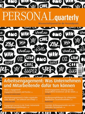 PERSONALquarterly 3/2020 Arbeitsengagement | PERSONALquarterly