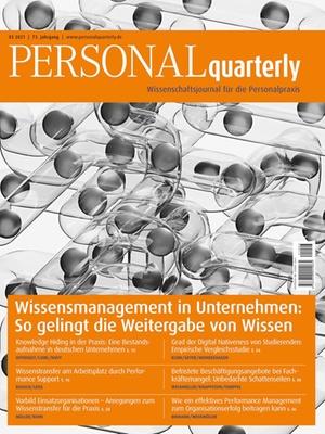 PERSONALquarterly 3/2021 Wissenstransfer | PERSONALquarterly