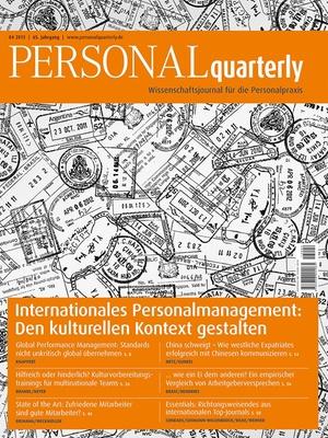 PERSONAL quarterly Ausgabe 4/2013 | PERSONALquarterly