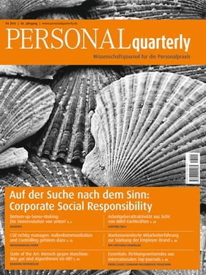 PERSONALquarterly 4/2016 Corporate Social Responsibility | PERSONALquarterly