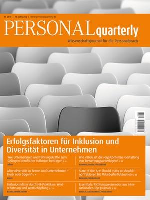PERSONALquarterly 4/2018 Inklusion & Diversität | PERSONALquarterly