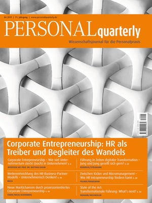 PERSONALquarterly 4/2019 Corporate Entrepreneurship | PERSONALquarterly
