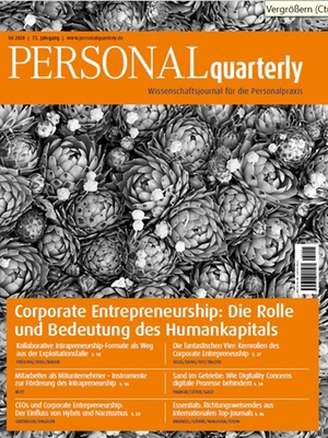 PERSONALquarterly 4/2020 Corporate Entrepreneurship | PERSONALquarterly