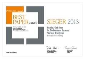 PQ Best Paper Award 2013