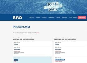 Programm Social Recruiting Days 2018