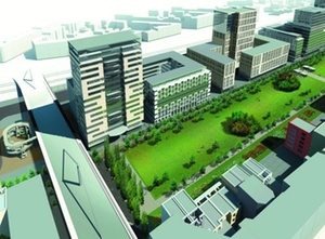 FOM kauft Grundstück im Düsseldorfer Quartier Central