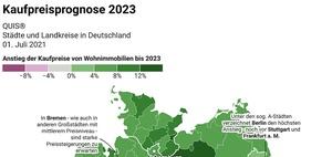 Wohnimmobilien: Wo die Preise bis 2023 am stärksten steigen