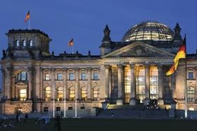 Reichstagsgebaeude, Berlin, Nacht