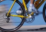 Rennradfahrer, Detail Beine, Bewegung