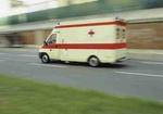 Rettungswagen auf Strasse, Bewegung