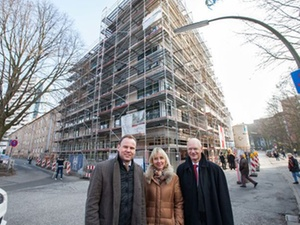 Sozialer Wohnungsbau: Richtfest für 20 Wohnungen in Hamburg