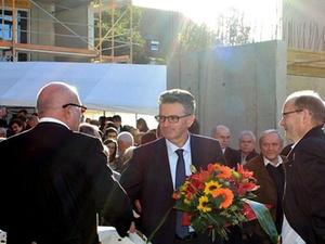 """Richtfest des Studentenwohnhauses """"The Fizz"""" in Freiburg"""