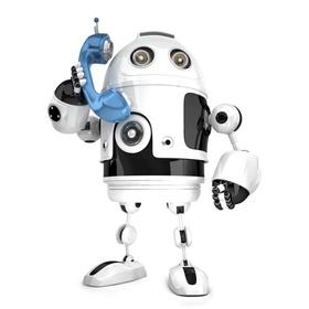 Roboter mit Telefon