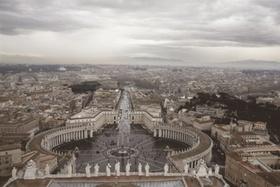 Rom, Blick vom Petersdom, Vatikan