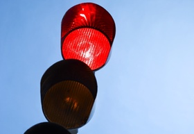 Close-up of traffic light