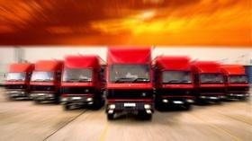 Rote LKW Logistik
