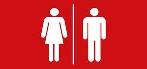 Wo hört der versicherte Bereich auf einer Personaltoilette auf?